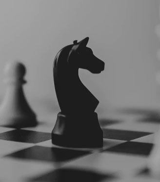 chess piece in black